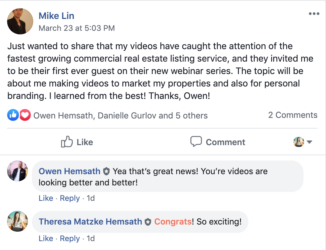 Mike Lin Collobrations and Opportunites from Video Content Testimonial