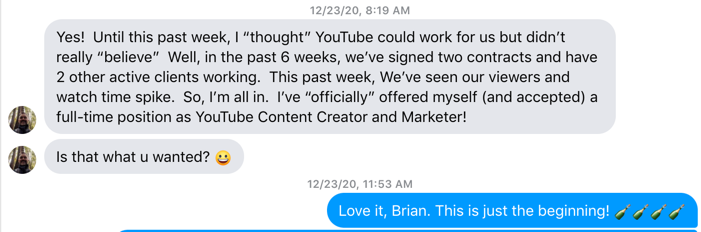 This realtor messaged us on FB to tell us he's he's pulled in 4 contracts over 6 weeks from his YouTube channel.